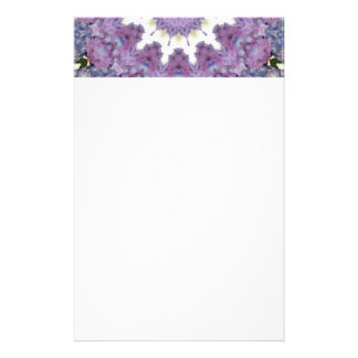 Lavender & pink kaleidoscope design stationery