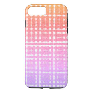 Lavender Pink Modern Plaid Ombre iPhone 7 Plus Case