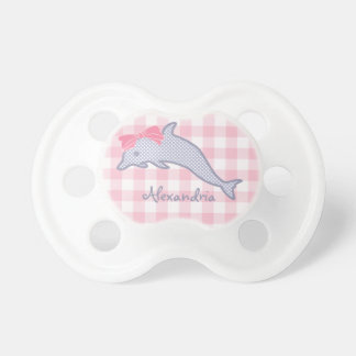 Lavender Polka-Dot Dolphin Pacifier