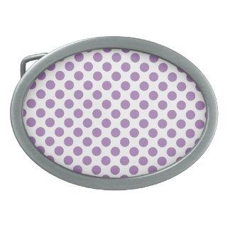 Lavender Polka Dots Belt Buckles