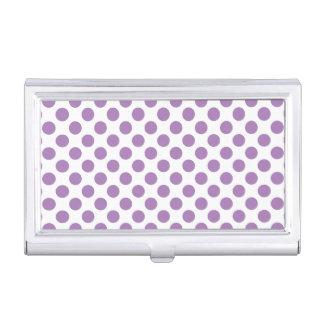 Lavender Polka Dots Business Card Holder