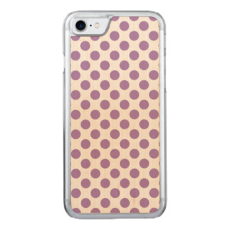 Lavender Polka Dots Carved iPhone 8/7 Case