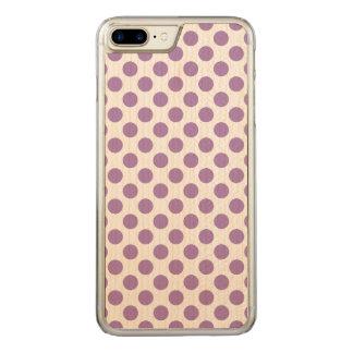 Lavender Polka Dots Carved iPhone 8 Plus/7 Plus Case