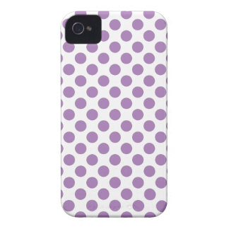 Lavender Polka Dots Case-Mate iPhone 4 Cases
