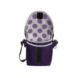 Lavender Polka Dots Courier Bag