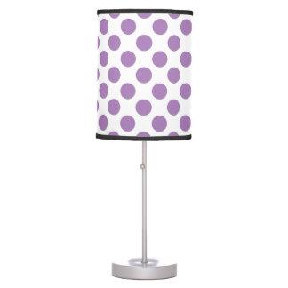 Lavender Polka Dots Desk Lamps