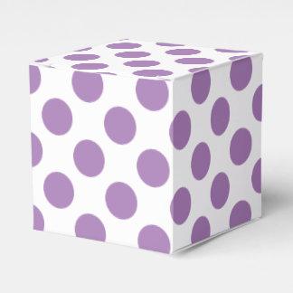 Lavender Polka Dots Favor Box