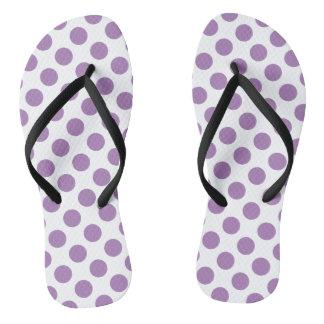 Lavender Polka Dots Flip Flops