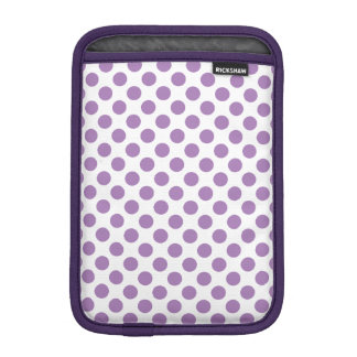 Lavender Polka Dots iPad Mini Sleeve
