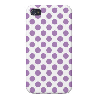 Lavender Polka Dots iPhone 4 Case