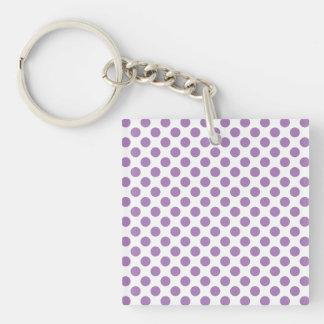 Lavender Polka Dots Keychain
