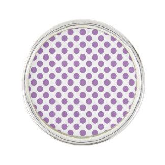 Lavender Polka Dots Lapel Pin
