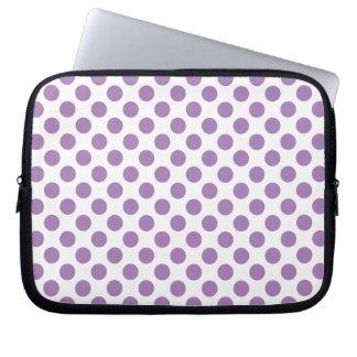 Lavender Polka Dots Laptop Sleeves