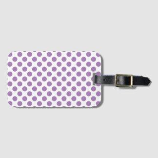 Lavender Polka Dots Luggage Tag