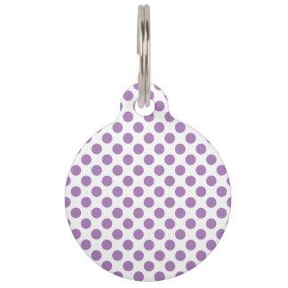 Lavender Polka Dots Pet Tag