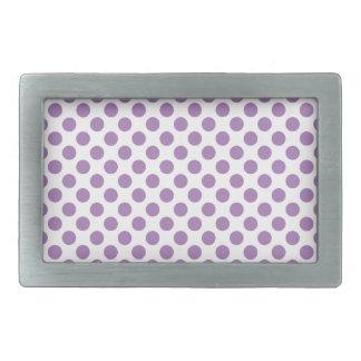 Lavender Polka Dots Rectangular Belt Buckles