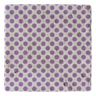 Lavender Polka Dots Trivet