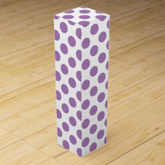 Lavender Polka Dots Wine Gift Box
