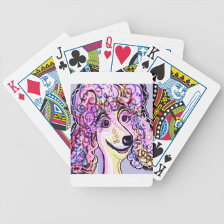 Lavender Poodle Bicycle Playing Cards