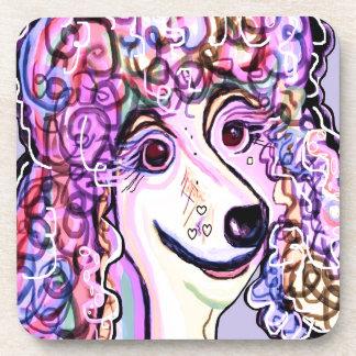 Lavender Poodle Coaster