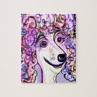 Lavender Poodle Jigsaw Puzzle