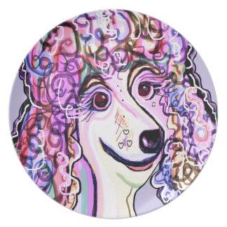 Lavender Poodle Plate