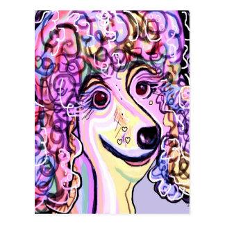 Lavender Poodle Postcard