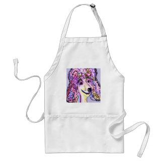 Lavender Poodle Standard Apron