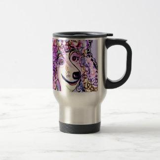 Lavender Poodle Travel Mug