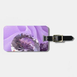 Lavender Purple Amethyst Diamond Luggage Tag