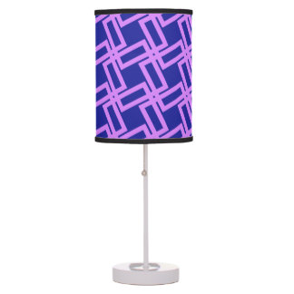 Lavender Purple and Blue Geometric Line Table Lamp