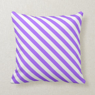 Lavender Purple and White Stripes on a Pillow