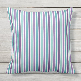 Lavender, Purple, Aqua Mix, Match Floral Paisley Outdoor Pillow