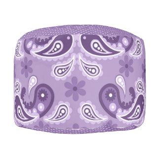 Lavender, Purple, Aqua Mix, Match Floral Paisley Pouf