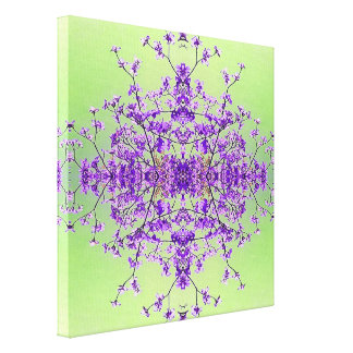 Lavender Purple Artistic Abstract Dogwood Blossoms Canvas Print