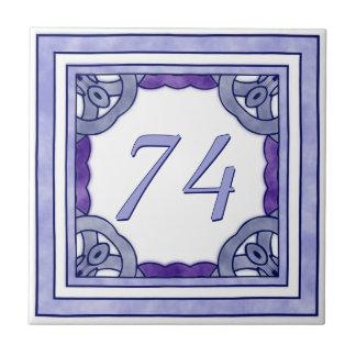 Lavender Purple Big House Number Tiles
