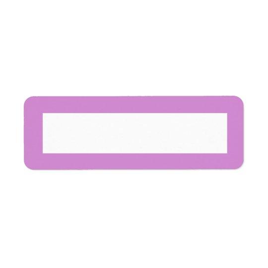 Lavender purple border blank return address label