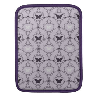 Lavender purple butterfly damask butterflies case sleeves for iPads
