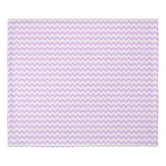 Lavender Purple Chevron Stripes Duvet Cover