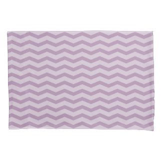 Lavender purple chevron zig zag pattern pillowcase