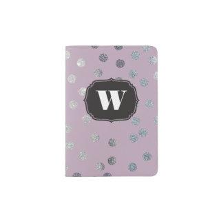 Lavender Purple Custom Monogram Passport Cover