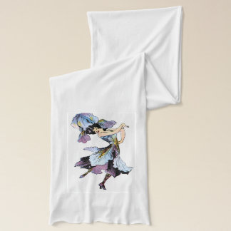 Lavender, purple dancing Iris flower fairy scarf