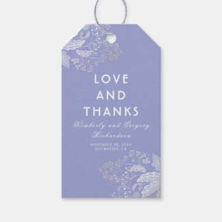 Lavender Purple Elegant Foliage Modern Wedding Pack Of Gift Tags