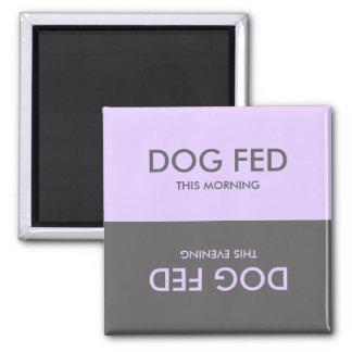 Lavender Purple Grey Feed Dog Pet Reminder Magnet