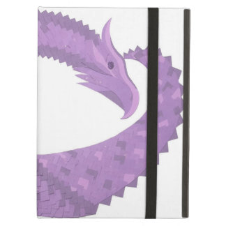 Lavender purple heart dragon on white iPad air case