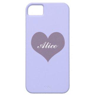 Lavender Purple Heart Minimalist Easy Customize iPhone 5 Case