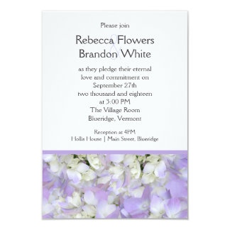 Lavender Purple Hydrangea Small Wedding Invitation