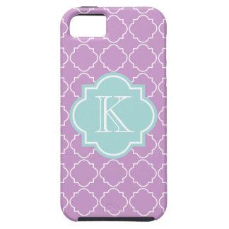 Lavender purple lattice pattern iPhone 5 cover