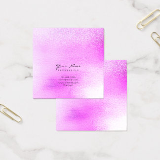 Lavender Purple Lilac Pink Rose Ombre Square Vip Square Business Card
