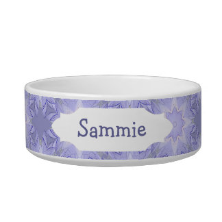 Lavender, Purple, Mauve Star Pattern to Customize Bowl